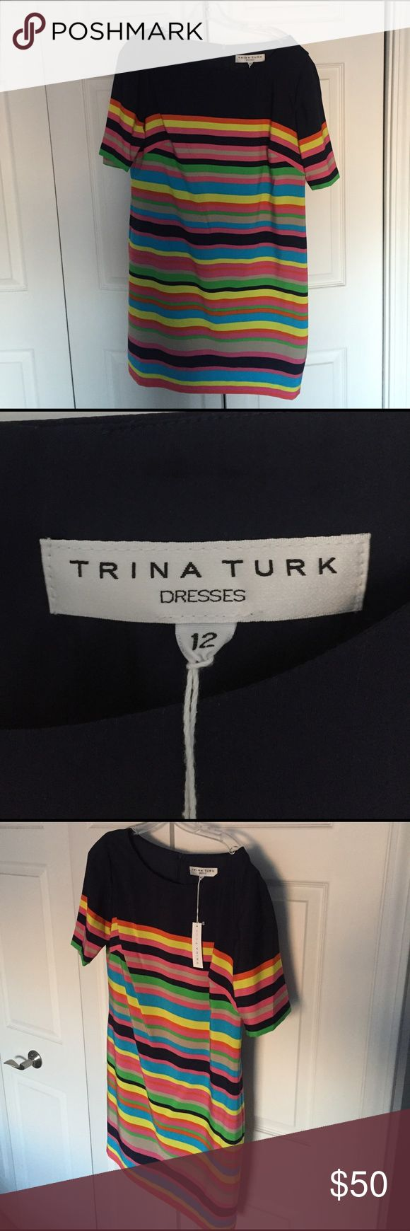 Trina Turk Dress Never been worn. Great dress for an upcoming vacation and the summer! Zipper in the back. Fits like a shift dress. Trina Turk Dresses Mini