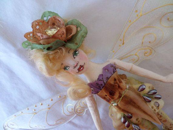 OOAK Fairy Art Doll  Gemma Bernice Lillybroom  by paulasdollhouse