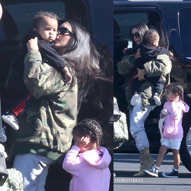 // Kim, North & Saint boarding a private plane yesterday - 26 January 2017.  #KimKardashianWest #KimKardashian #KanyeWest #NorthWest #NoriWest #SaintWest #Kim #Kanye #North #Saint #Kimye #TheWests #Kardashian #Kuwtk @KimKardashian @KanyeWest