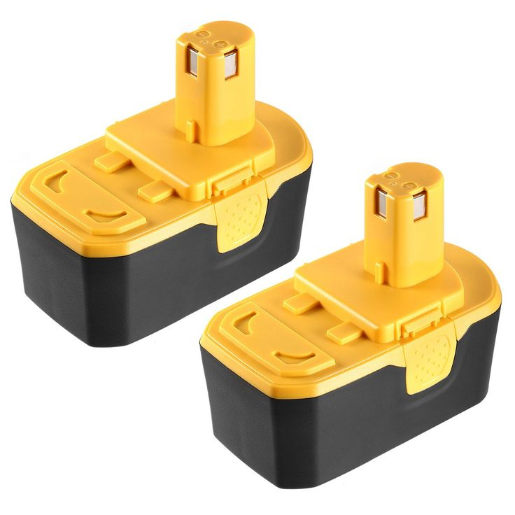 Powerextra Upgraded 2 Pack 3000mAh NI-MH Battery Replacement For Ryobi ONE+ 18V P100 P101 Cordless Power Tools Ryobi 18V Battery