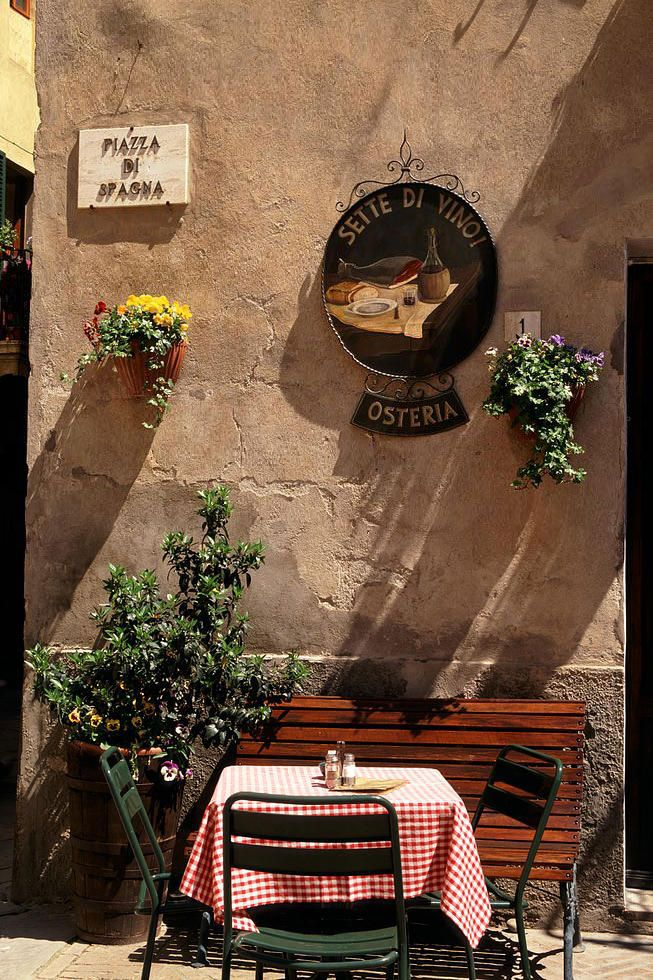 I'd love to visit a restaurant off the beaten path of the tourists: Osteria in Pienza, Tuscany, Italy