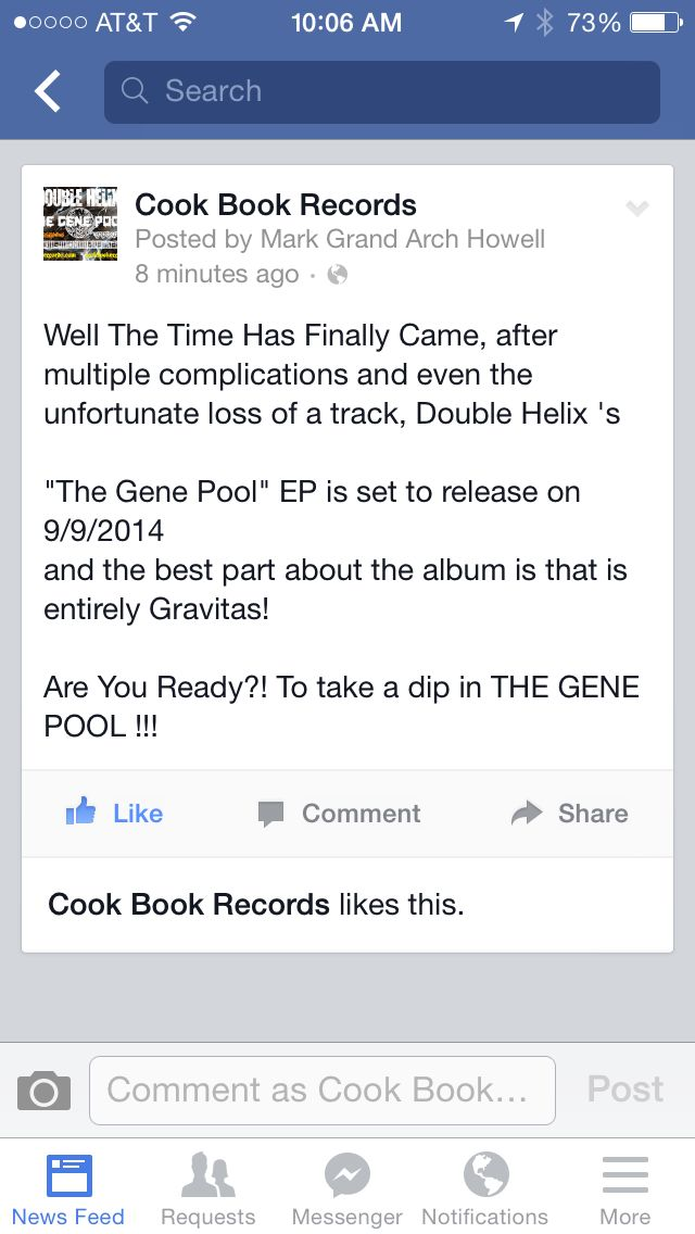 The Gene Pool will be available 9/9/2014
