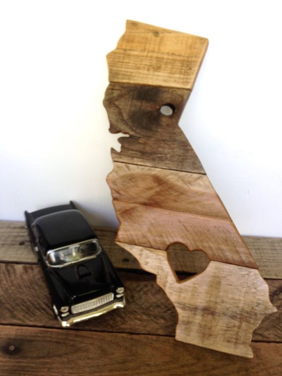 Reclaimed Wood California Sign  Wooden by ShineBoxPrimitives. For Amanda?