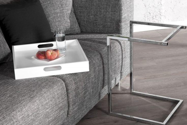 Biały stolik Piano #table #coffee #coffeetable #home #modern #design #homedecor #homedesign #furniture #metal #tray