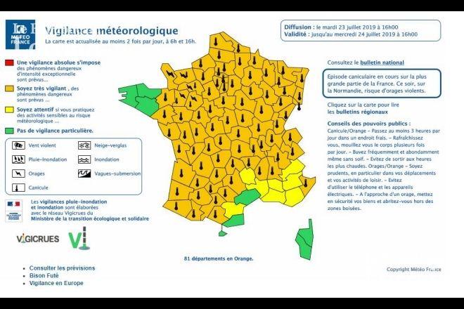 Meteorologie Climat Caniculaire La Meteo De Ce Mercredi En