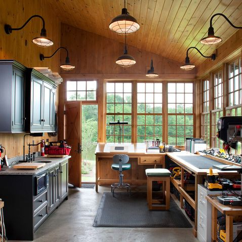 Garage and Shed Design Ideas, Pictures and Remodels my hubby would love this