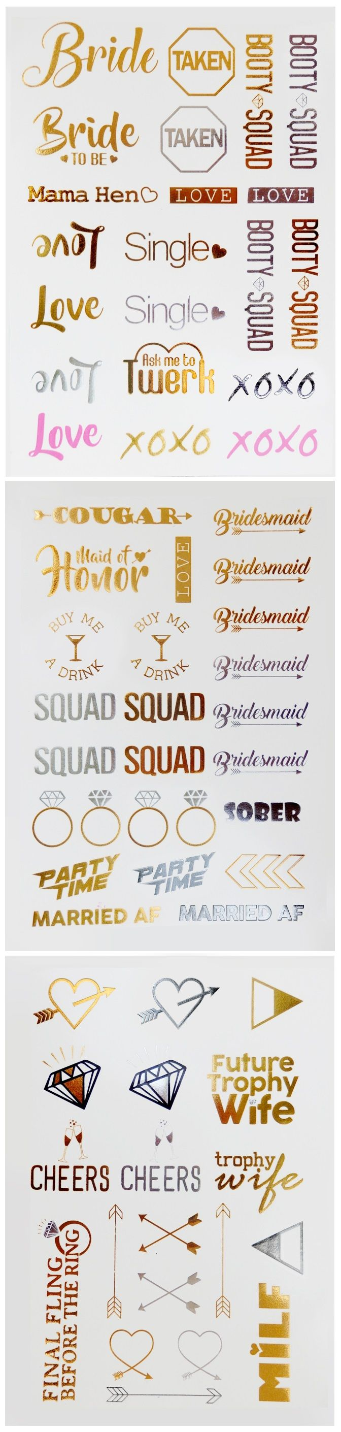 Enter Promo Code: SJC20 to save 20% Off your Bachelorette Party Flash Tattoos!