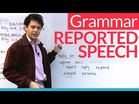 Grammar: Reported Speech / Indirect Speech · engVid