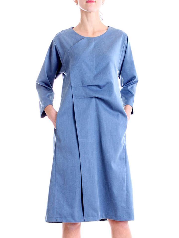 e81a2e878c Sukienka w kolorze granatowym - Andrea Crocetta - odzież damska - Limango