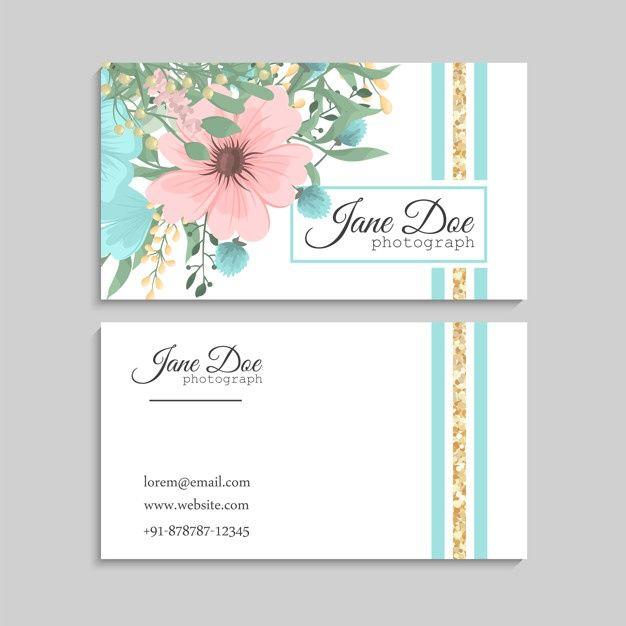 Download Flower Business Cards Blue Flowers For Free Floral Watercolor Background Flower Business Wedding Florist Logo