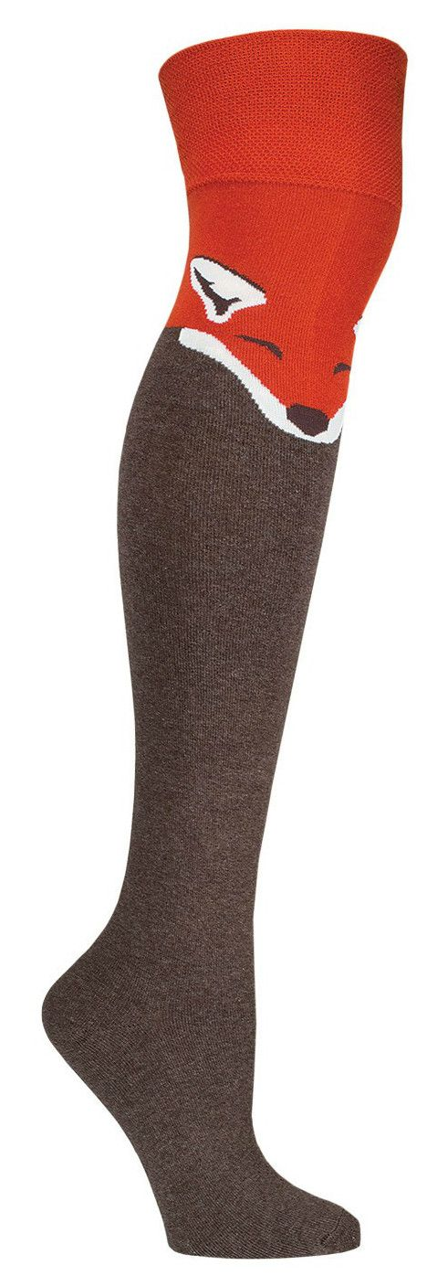Whoa there, foxy mama! In these adorable over the knee socks, you will feel as snug as a bug in a rug… or better yet, as snug as a fox on a cool animal sock? In either brown or black, you won't need t