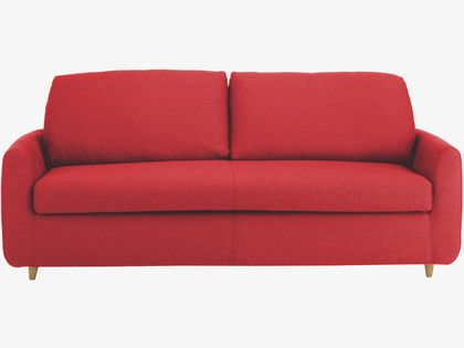 Red 3 seater sofa bed - size of a king sized bed