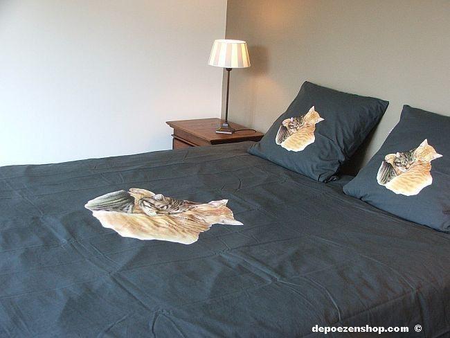 dekbedovertrekken met tekening van Franciens katten 100% hoge kwaliteit van katoen 2014 Franciens katten  www.depoezenshop.com