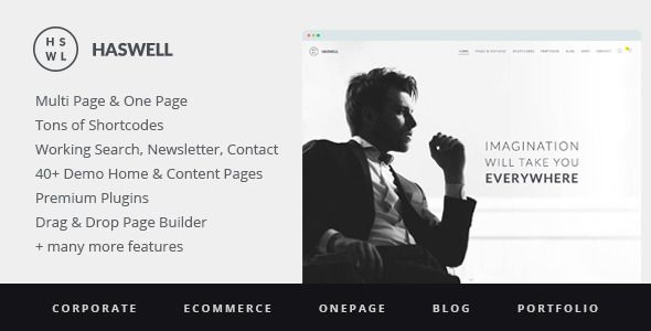 Haswell - Multipurpose One & Multi Page WP Theme
