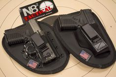 The 5 Best Inside-the-waistband Concealed Carry Holsters, N82 Tactical Holsters with a pair of Springfield Armory XD-S pistols.