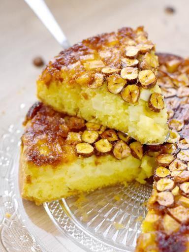 Gâteau renversé pommes noisettes : Recette de Gâteau renversé pommes noisettes - Marmiton