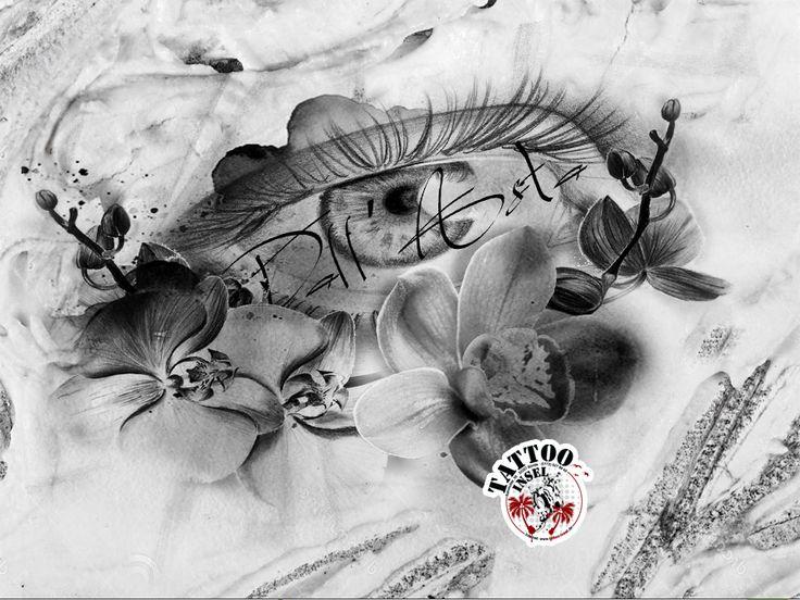 auge orchideen tattoo