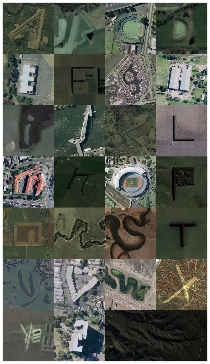 aerial alphabet -The first Google Maps alphabet, featuring all 26 letters, has been created from satellite images of natural features and buildings by Rhett Dashwood, a graphic designer from Australia.