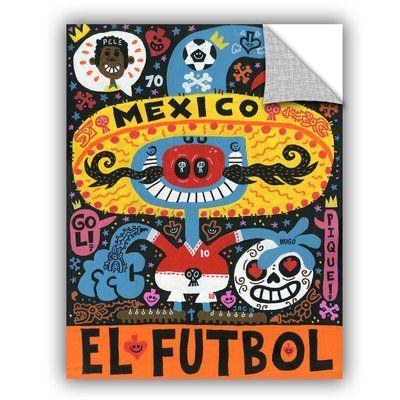 "ArtWall Jorge Gutierrez La Mascota Del Mundial Wall Decal Size: 32"" H x 24"" W x 0.1"" D"