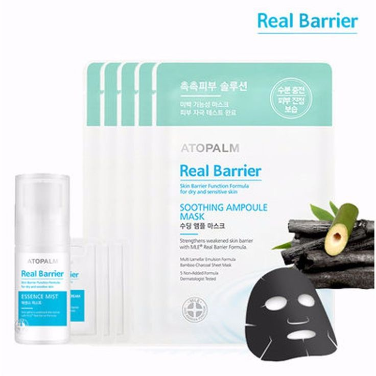 Atopalm Real Barrier Soothing Ampoule Mask Sheet 5 Pieces Plus Mist 30ml #Atopalm
