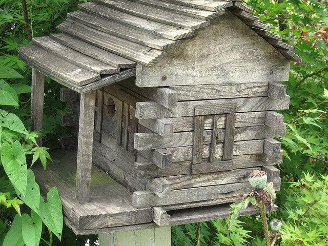 "outdoormagic: "" Olde birdhouse by Grinnin Gramma on Flickr. """