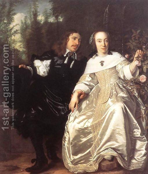 Abraham Del Court And Maria De Keersegieter by Bartholomeus Van Der Helst