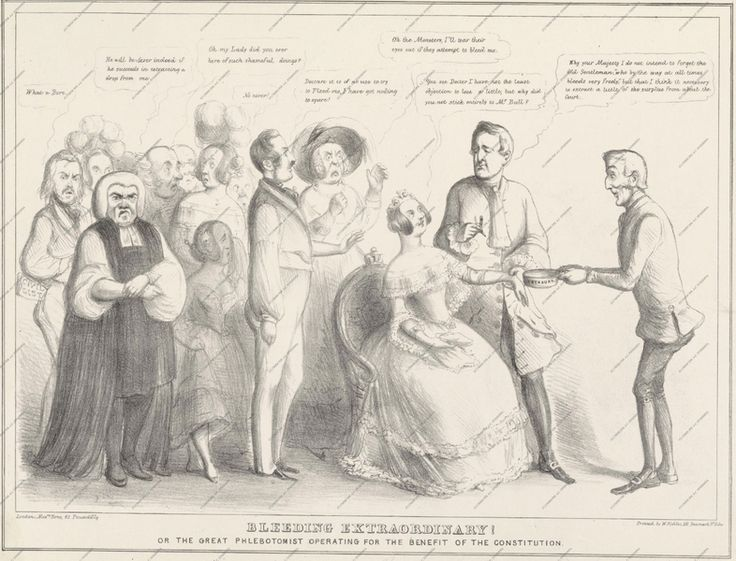Bleeding extraordinary by John Doyle-large.ВЕЛИКОЕ КРОВОПУСКАНИЕ,1843 Source Pushkin Museum of Fine Arts.