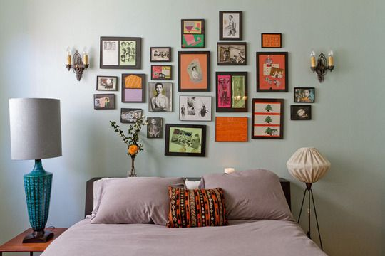 Cute and colorful: Photo Collage, Wall Collage, Pictures Collage, Galleries Wall, Frames Collage, Pictures Frames, Bedrooms Wall, Diy Projects, Pictures Wall