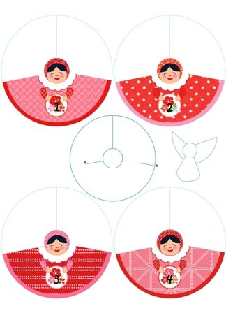 63 best engelen angels images on pinterest christmas angels template here anel paper cutout angel angel advent calendar to print free calendar pronofoot35fo Images