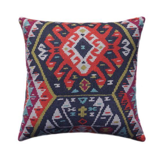 High Quality Kilim Pillow Cover, Tribal Throw Pillow, Aztec Pillow Cover, Boho Pillow    11