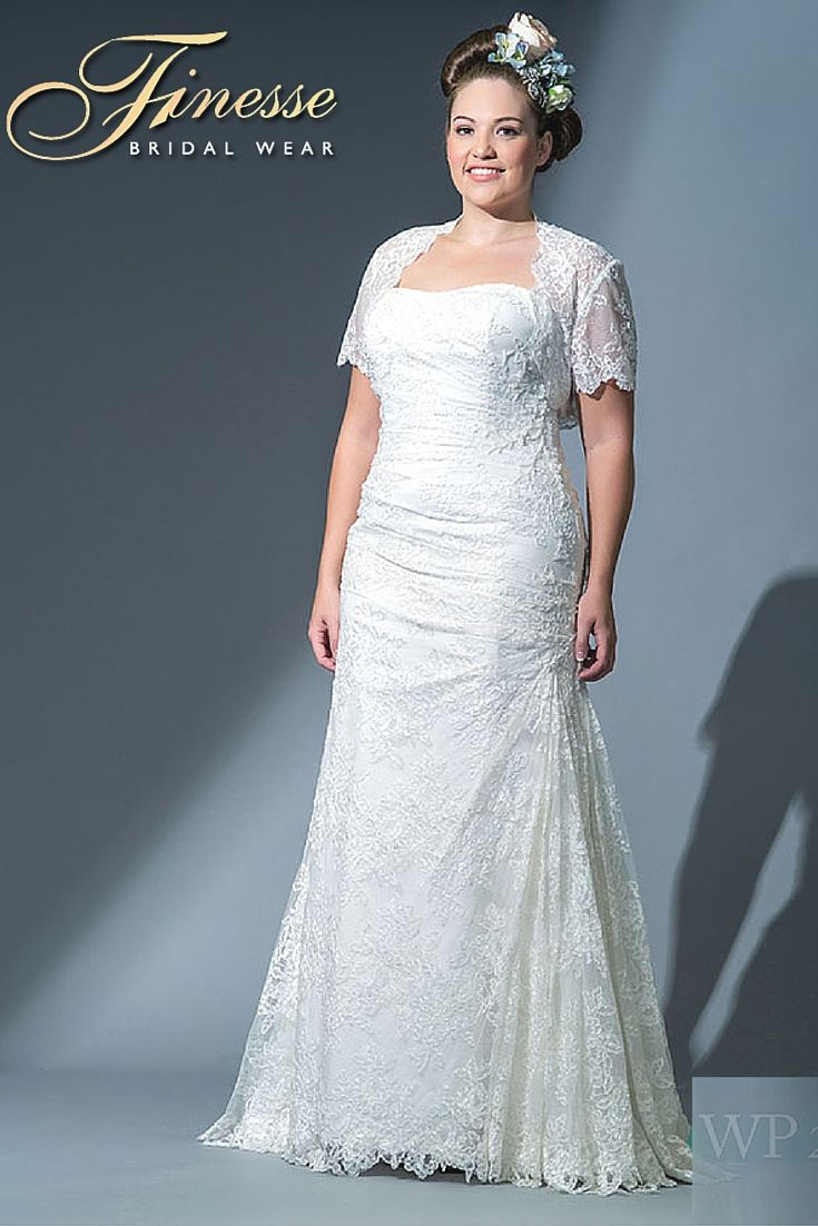 Classical Style Wedding Dress for the Plus Size Bride from Finesse Bridal Wear in Ireland #CurvyBride