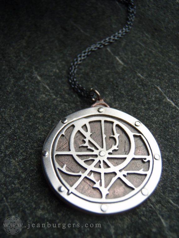 Planispheric Astrolabe Pendant Ancient by JeanBurgersJewellery