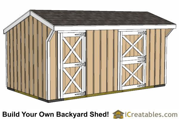 10x18 2 Stall Horse Barn Shed Pinterest Shed Plans Sheds And Horses