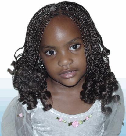 Children's box braids with spiral curls   Conditions générales de vente