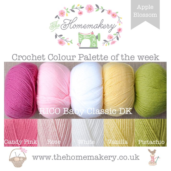 Crochet Colour Palette: Apple Blossom featuring Rico Baby Classic DK - The Homemakery Blog