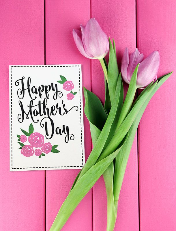 Happy Mother's Day Card - Mother's Day Gift Card - Pink Rose Mother's Day Card - Mother's Day Card - Watercolor Greeting Card For Mom by PaintTheDayDesigns on Etsy