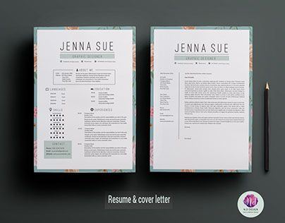 Best Chic  Modern Resume  Cv Templates Images On