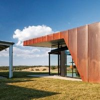 The Brent Knoll House,  Designed by the award winning March Studios uses the Copper cladding in Double Standing Seam system to blend harmoniously with its rustic country surrounds. View all project images here:  http://www.craftmetals.com.au/component/zoo/item/brent-knoll-house