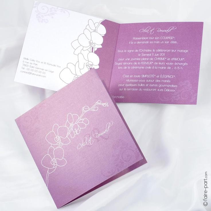 faire part mariage orchides c21a - Faire Part Mariage Orchide