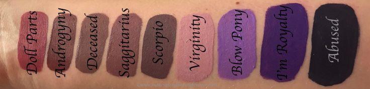All Jeffree Star Velour Liquid Lipsticks Shades Review, Swatches