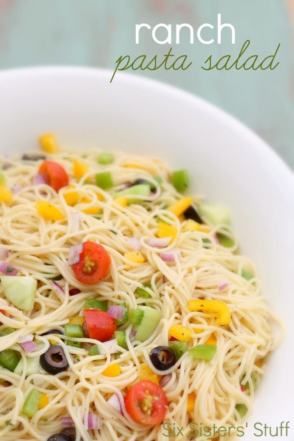 Ranch Pasta Salad Recipe on MyRecipeMagic.com