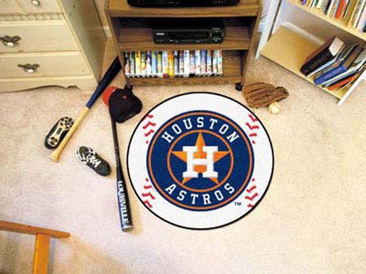 27 inch Round Houston Astros Baseball Mat