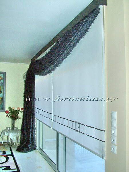 ΦΟΡΟΣ ΗΛΙΑΣ :: Διακόσμηση με κουρτίνες μοναδικές, ρόλερ, πάνελ με ζωγραφική στο χέρι ::