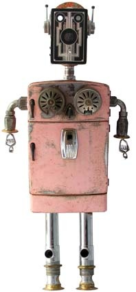 UPCYCLE: marvellous robot site - found object robots - maxine (how fun is this?)