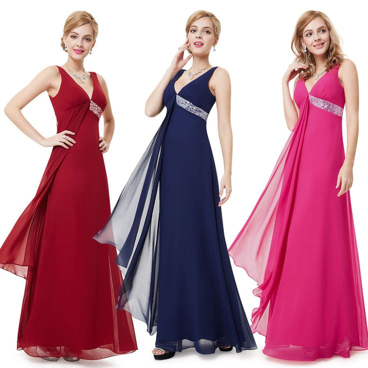 Chiffon Long Bridesmaid Formal Dresses Party Prom Evening Gowns 09981 AU SZ 8-18