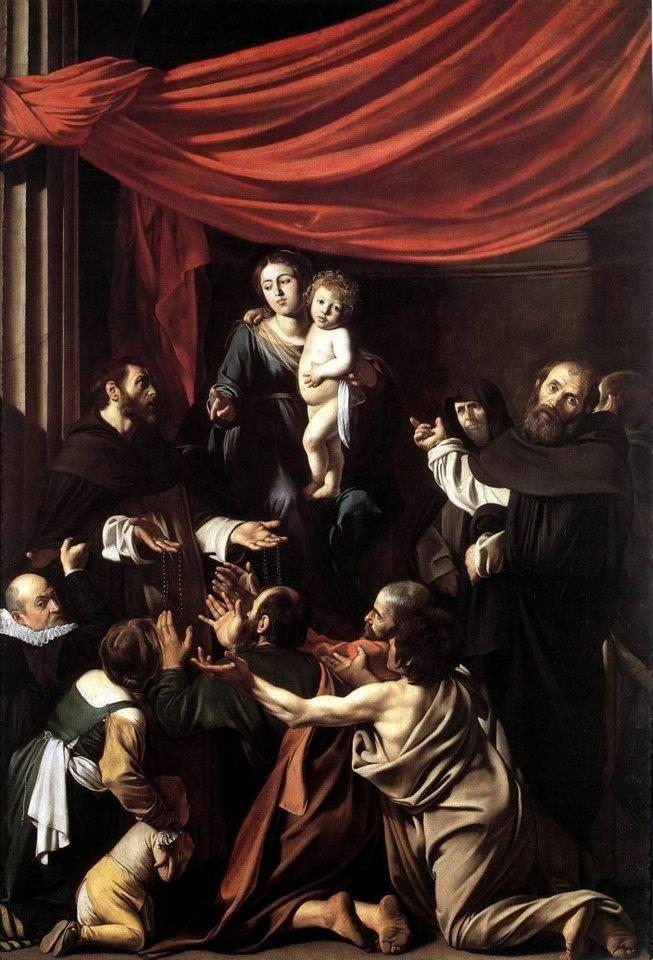 Caravaggio Madonna del rosario (1607)