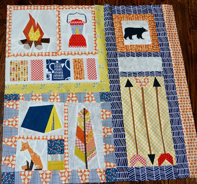 Camping Quilt Traveling Quilt Bee Monpetitlyons Blogspot