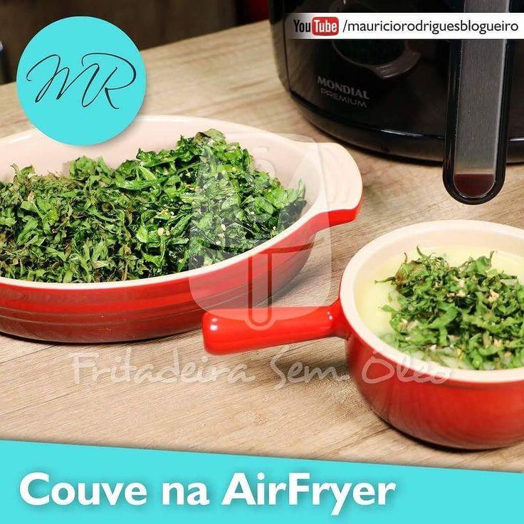 Vídeo como fazer Couve Refogada (couve  mineira) e Couve Crocante / Crispy na AirFryer!!! ... Corre lá para conferir curte e se inscreve também no canal -> http://ift.tt/1Sqzj1a ... #airfryer #airfryends #FritadeiraSemoleo #blogfritadeirasemoleo #couve #couvemanteiga #couvemineira #couverefogada #couvecrocante #couvecrispy #video #videoreceita #receita #verdura #light #fit #saudavel #vegetais #canal #youtube #mauriciorodrigues by fritadeiras