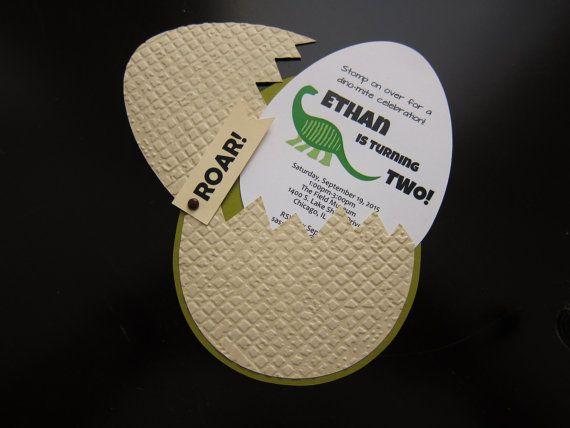 Dinosaur Egg Invitation by SassyPapier on Etsy