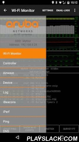 Aruba Utilities  Android App - playslack.com ,  Aruba Utilities includes a number of tools useful for characterizing and troubleshooting wireless LANs from Aruba Networks. Some tools work with any WLAN, others are clients for Aruba's AirWave management system, Analytics & Location Engine (ALE) and Mobility Controllers. Support is through email to the developer, or via the Aruba Community site http://community.arubanetworks.com/t5/Aruba-Apps/bd-p/Aruba-AppsA user guide is…